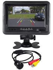 "Rockville Flush Mount/Keyhole Universal Backup Camera+7"" Dash Mount Car Monitor"