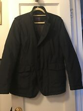 Gio Matto Mens Padded Jacket Leather Collar Trim Euro Fit Retail $125