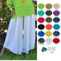 WATERSISTER Cotton Gauze HARLEY Wide Drop Waist Pant 1(M/L) 2(XL/1X) 2019 COLORS