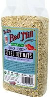 Bob's Red Mill Organic Quick Cook Steel Cut Oats 22 oz (Pack of 2)