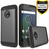 For Motorola Moto E4 Phone Case, Shockproof Cover+Screen Protector+Stylus
