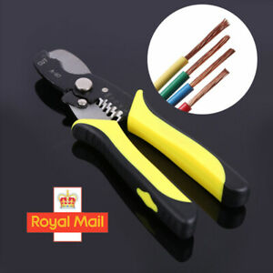 Automatic Cable Wire Stripper Crimper Crimping Tool Adjustable Plier Cutter UK