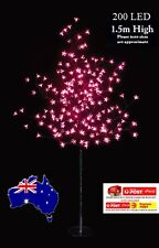1.5M 200LED PINK CHERRY BLOSSOM SOLAR CHRISTMAS OUTDOOR TREE