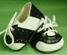 DOLL Shoes, 54mm Black and White Saddles - NEW!
