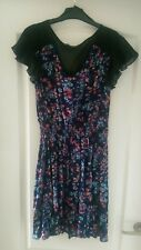 Atmosphere/Primark -Size 12 - Ladies Blue Floral Dress with Lace Detail