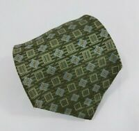 Jos A. Bank Silk Tie Green Blue Geometric Made in Italy