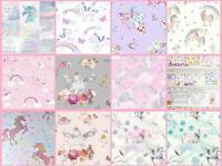Girls Unicorn Wallpaper Children's Pink White Glitter Rainbow Butterflies Floral