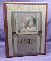Hauptmann Hannele 1894 Traumdichtungen Belletristik Erstausgabe Klassiker sf