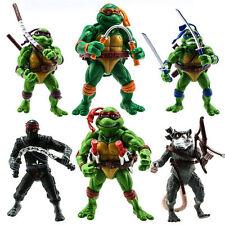 CLASSIC TMNT Teenage Mutant Ninja Turtles 6PCS Action Figure Toys Set Collection