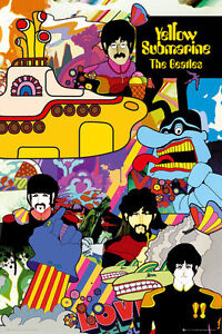 BEATLES - YELLOW SUBMARINE COLLAGE POSTER 24x36 - MUSIC BAND 34222