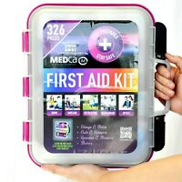 First Aid Kit - Emergency and Medical Kit Hard Case 326 piece OSHA ANSI approved