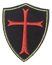 "(C30) KNIGHTS TEMPLAR RED CROSS w/ Gold Trim 3"" x 2.5"" iron on patch Badge"