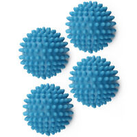 4x BLUE TUMBLE ECO DRYER CLOTHES SOFTENER WASHING MACHINE BALLS CLOTHES UK
