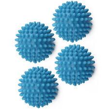 4x BLUE TUMBLE ECO DRYER CLOTHES SOFTENER WASHING MACHINE BALLS CLOTHES UK