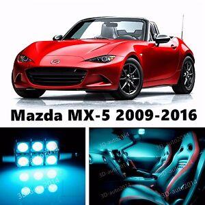 6pcs LED ICE Blue Light Interior Package Kit for Mazda MX-5 Miata