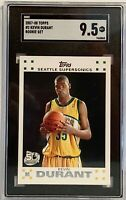 2007-08 Topps Rookie Set  #2 Kevin Durant SGC Mint 9.5 Seattle Supersonics