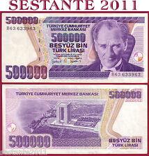 TURKEY TURCHIA 500000 500.000 LIRA L. 1970 (1998) PREFIX H - P 212 - QFDS / AUNC