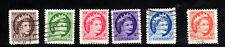 CANADA #337-342  QUEEN ELIZABETH II WILDING PORTRAIT SET OF 6  USED   b