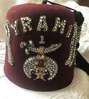 Vintage Fez Hat Pyramid 1 Felt  Long Tassle Diamond Set Fez Philadelphia w Case