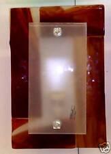 Applique di Murano vetro fusione Seta Rosso 20X30