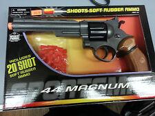 "44 MAGNUM SOFT RUBBER AMMO TOY GUN PISTOL WITH ORANGE TIP LENGTH 11"""