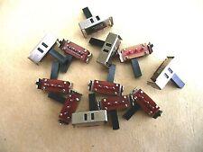 10 x Interrupteur Inverseur à glissière 1RT coudés                     #IVG1RTCC