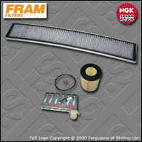 SERVICE KIT BMW 3 SERIES 320I E46 FRAM OIL CABIN FILTERS SPARK PLUGS (1998-2005)
