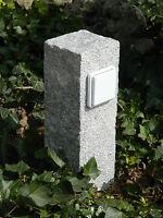 Außensteckdose, Gartensteckdose, Granit, gestockt, Strom im Garten, Naturstein
