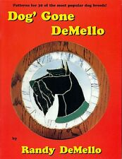Dog Gone DeMello Stained Glass Pattern Book, Beagle Retriever Collie Terrier etc