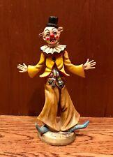 Vintage Fontanini Depose Italy Poly Resin Clown Figurine