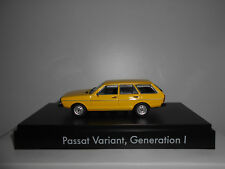 VOLKSWAGEN PASSAT VARIANT B1 1973-80 YELLOW MINICHAMPS VW DEALER 1:43
