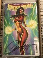 SPIDER-WOMAN #1 J SCOTT CAMPBELL VARIANT COVER SIGNED w/ CoA 2020 marvel