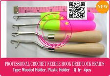 4P Latch Crochet Hair Needle Hook Dreadlock Tool/Craft Dread Lock Hair Extension