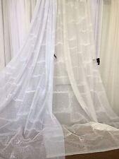 Sheer Lace Curtain-Ivory -213 cm drop Rod Pocket / Track-Strucco -$5 per m