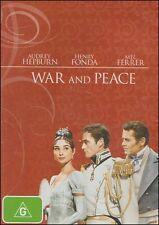 WAR & PEACE (Audrey HEPBURN Henry FONDA Mel FERRER) Classic Romantic DVD Reg 4