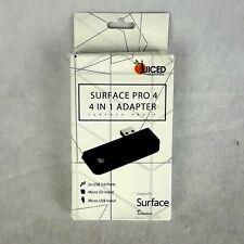 Juiced Microsoft Surface Pro 4 4 in 1 Adapter 2x USB 3.0 Port Micro SD/USB input