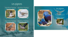 Pigeons Tauben Birds Vögel Animals Fauna Togo MNH stamp set