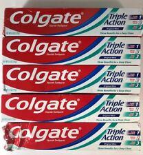 5 Pack - Colgate Toothpaste Triple Action Original Mint 6 oz. NOB, Exp. 8/21+