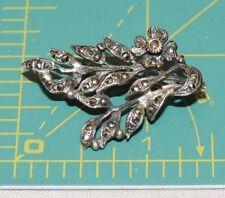 Victoriam 835 Silver Brooch Foreign Hallmark Flower Marcasite Pin 4.5g d 14