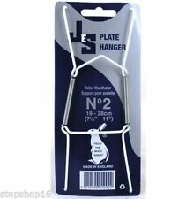 """10 x Wire Plate Hangers sizes No-2, 19-28CM, 7.5""""-11"""" Wall"""