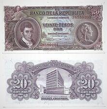 COLOMBIA P401b***20 PESOS***ND 1960***UNC GEM***LOOK SUPER SCAN