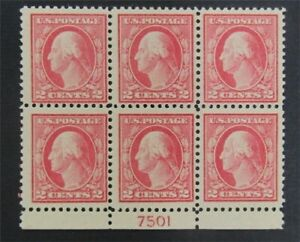 nystamps US Plate Block Stamp # 499 Mint OG NH P# Block Of 6   S17y900