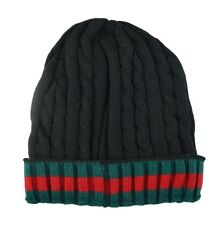 Winter Knit Twist Cable Short Beanie Hat Mens Ski Snow Board Skull Cap - Black