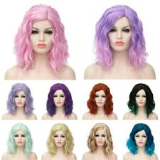 12 Colors Heat Resistant Curly Anime Cosplay Synthetic Lolita Full Wig Christmas