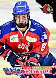 Tim Stuetzle 2020 HH cards 1 Round Draft 2020 Senators #3 8/9 Germany