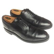 Allen Edmonds Benton Black Leather Cap Toe Dress Oxfords Shoes Mens 8.5 E Wide
