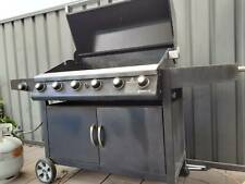 Grandhall Barbeque 7 burner gas burner with stainless rotisserie no gas bottle