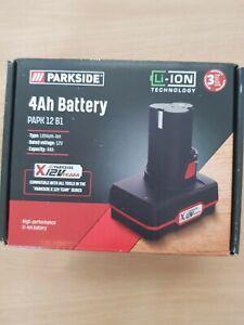 PARKSIDE 4AH  BATTERY  -12V ( 4Ah) -Li-ion Technology-3 YRS