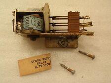 Williams Em Electro Mechanical 70'S Pinball Machine Back Box Score Reset Relay!