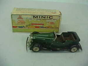 TRI-ANG MINIC VAUXHALL TOWN COUPE TOY CAR w/BOX (NO KEY)